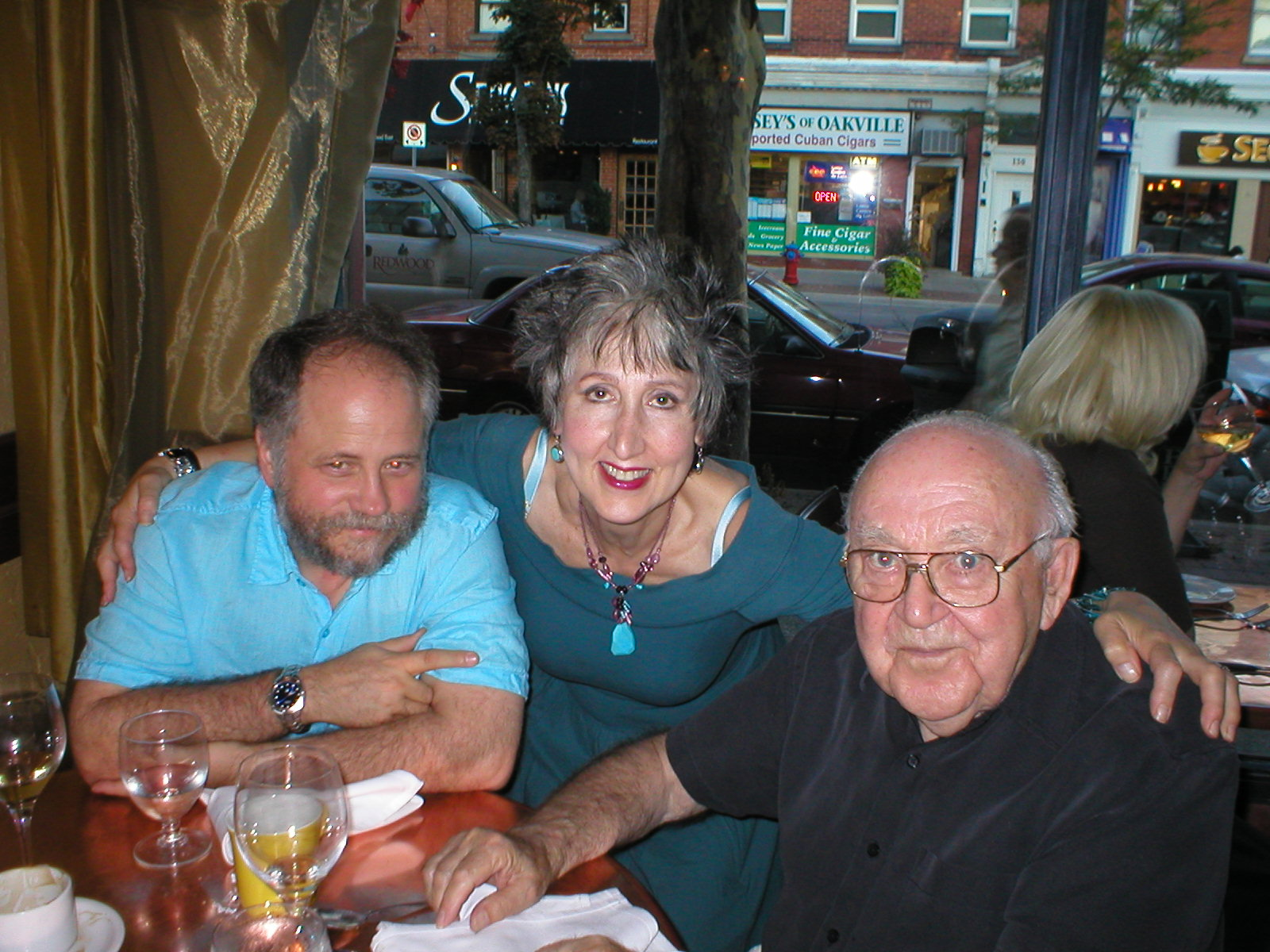 Mark, Ms. Modigliani, and Lou at Il Paridiso