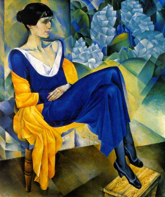 Nathan Altman. Portrait of Anna Akhmatova. 1914. Oil on canvas. 123.5 x 103.2 cm. The Russian Museum, St. Petersburg, Russia.
