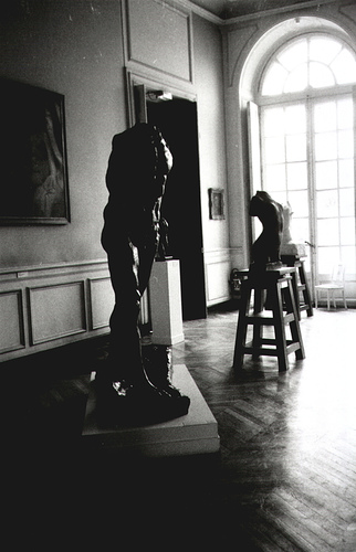 Sculpture galleries at Musée Rodin, Paris