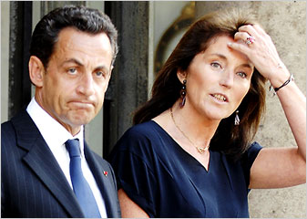 French president Nicolas Sarkozy and ex-wife Cécilia