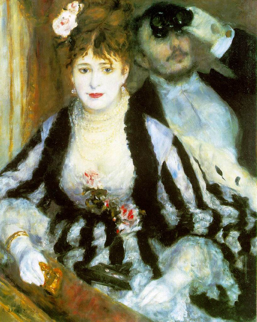 Pierre-Auguste Renoir. The Loge. 1874. Courtauld Institute Galleries, University of London.