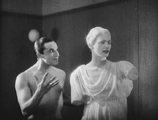"Lee Miller played the Statue in Jean Cocteau's 1930 Surrealist film ""The Blood of a Poet."""
