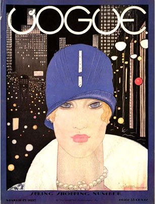 Lee Miller first appeared in Vogue on its March 15, 1927, cover.