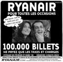 "Irish budget airline Ryanair spoofed the Carla-Sarko affair in an ad published in the popular French daily Le Parisien. The thought-bubble emanating from Carla's head says, ""With Ryanair, all my family can come to my wedding."""