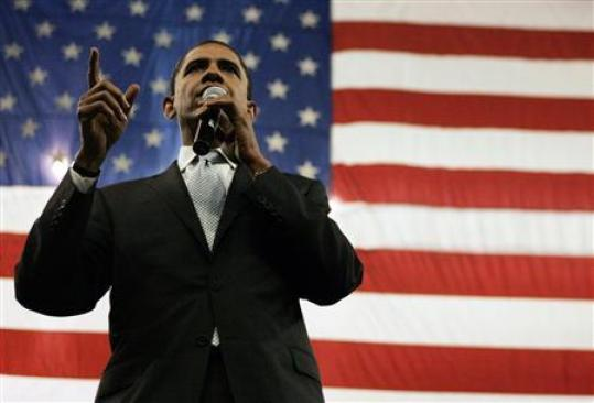 Democratic presidential candidate Senator Barack Obama (D-IL) speaks at a rally in Fort Worth, Texas February 28, 2008. (REUTERS/Jessica Rinaldi)