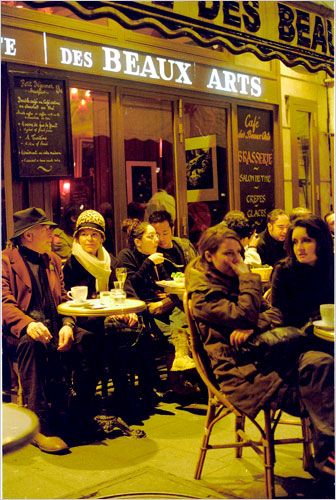 Critiquing the style spectacle seen from a sidewalk cafe in Paris is a major spectator sport that hits its peak during Fashion Week, according to Bill Cunningham's latest On the Street photo essay. [Source: NYT]