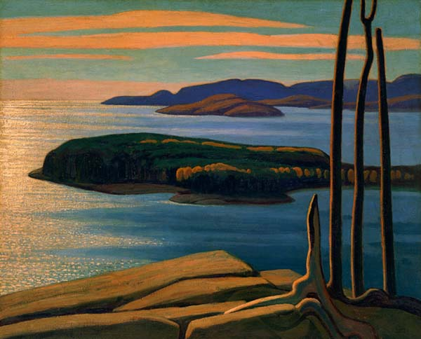 Lawren Harris.Afternoon Sun, Lake Superior. [Source: George]