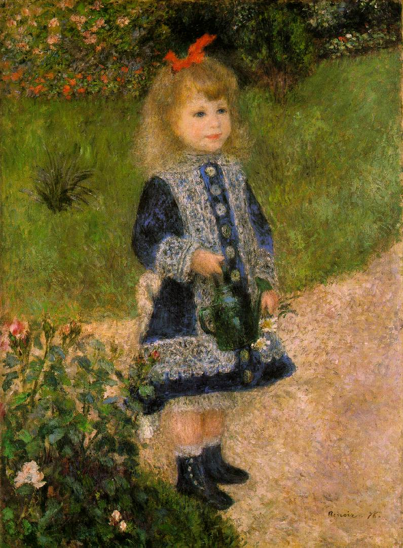Auguste Renoir. A Girl with a Watering Can. 1876. National Gallery of Art, Washington, D.C.