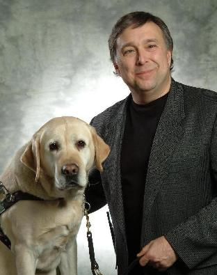 Steve Kuusisto and his guide dog Vidal.