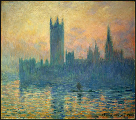 Claude Monet. The Houses of Parliament, Sunset. 1903. National Gallery of Art, Washington, D.C.