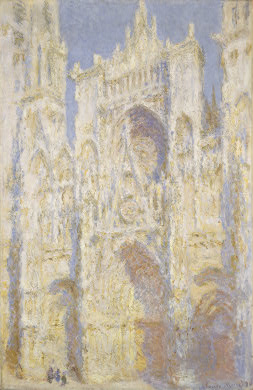 Claude Monet. Rouen Cathedral, West Façade, Sunlight. 1894. National Gallery of Art, Washington, D.C.