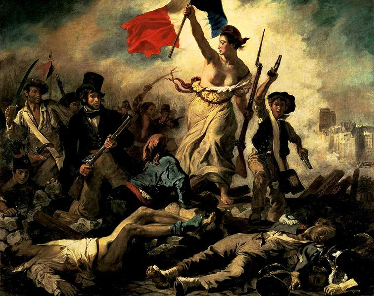 Eugène Delacroix. Liberty Leading the People. 1830. Louvre, Paris. [Source: Wikimedia Commons]]