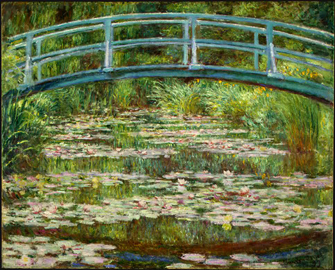 Claude Monet. The Japanese Footbridge. 1899. National Gallery of Art, Washington, D.C.