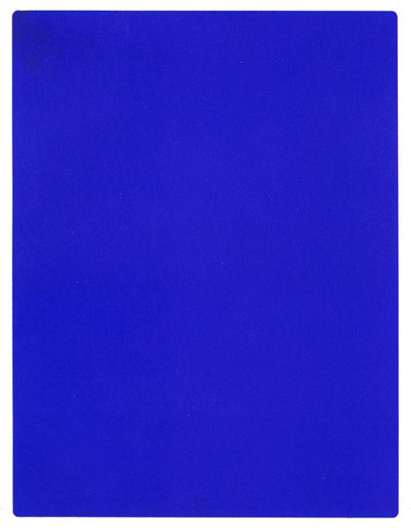 A digital representation can only approximate the deep, other-worldly hue of the color invented by Yves Klein that is known as IKB or International Klein Blue. [Source: Wikipedia]