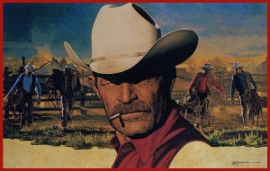 The Marlboro Man looked good even when he needed a shave. [Source: Cigarette ad]