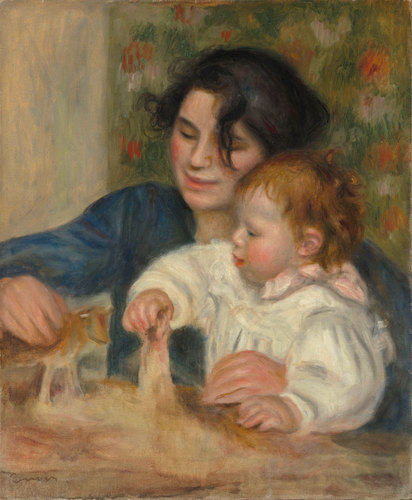 Pierre Auguste Renoir. Gabrielle And Jean. Oil on canvas, 1895. Musee de l'Orangerie, Paris. [Source: Musee de l'Orangerie/NPR]