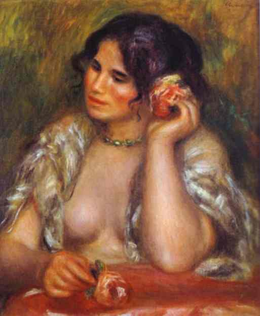 Pierre Auguste Renoir. Gabrielle With A Rose. 1911. Musee d'Orsay, Paris. [Source: Musee d'Orsay/Google Images]