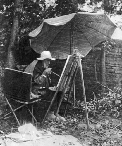 At the end of his life, French impressionist master Pierre-Auguste Renoir continued painting — using a brush tied to his arthritic hand. [Source: Time and Life Pictures/Getty Images/NPR]