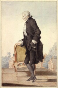 Laurence Sterne painted in watercolour by French artist Louis Carrogis Carmontelle, ca. 1762 [Source: Wikipedia] http://en.wikipedia.org/wiki/File:Laurence_Sterne_by_Louis_Carrogis_Carmontelle.jpg