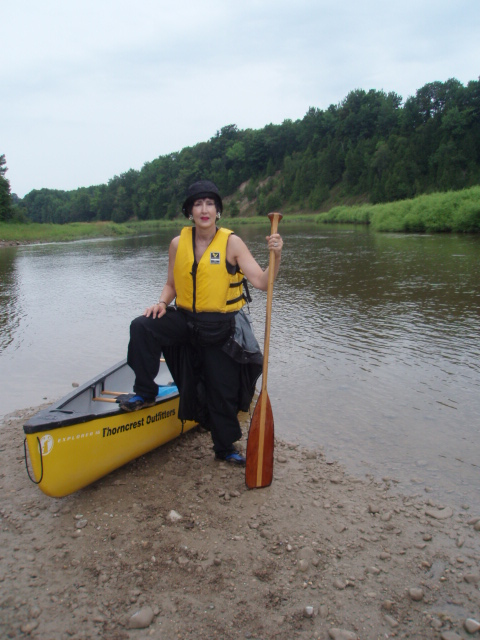 Ms. Modigliani on the Saugeen River up in County Bruce, Ontario [Photo by a blind flaneur]