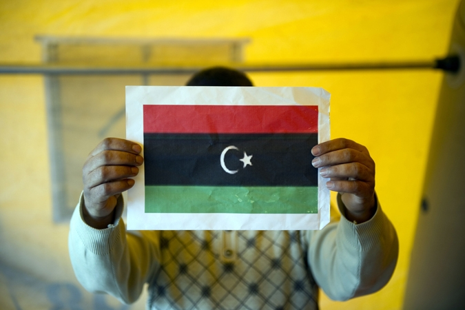 Libya flag [Source: Al Jazeera English live blog 022611]