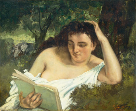 Gustave Courbet. A Young Woman Reading. 1866/1868. National Gallery of Art, Washington, D.C.