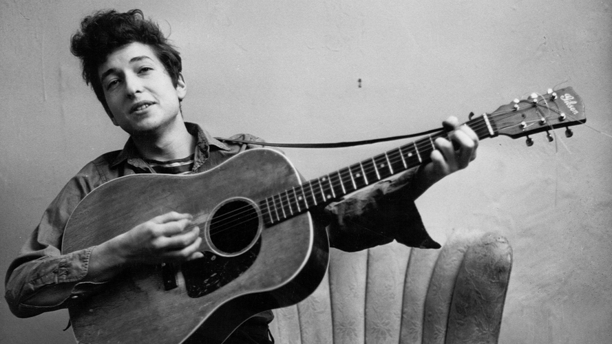 "Bob Dylan is one of the artists featured in Tom Piazza's collection of essays, ""Devil Sent the Rain."" Piazza says Dylan's way of pushing boundaries ""is a very American thing."" [Source: Michael Ochs Archives/Getty Images/NPR]"