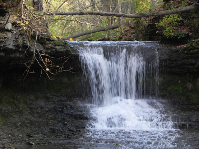 The Cascades on Birch Creek in Glen Helen (Greene County, Ohio), photographed on 102311. [Photo by a blind flaneur]