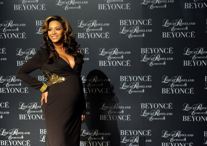 "During the 2011 MTV Video Music Awards in Los Angeles on Aug. 28, 2011, singer Beyonce Knowles rubbed her stomach in the middle of the performance to reveal her baby bump. ""Baby bump"" is one of the words on Lake Superior State University's list of banished words this year. [Source: Jemal Countess/Getty Images/NPR]"