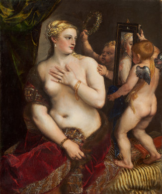 Titian. Venus with a Mirror. ca 1555. National Gallery of Art, Washington, D,C.