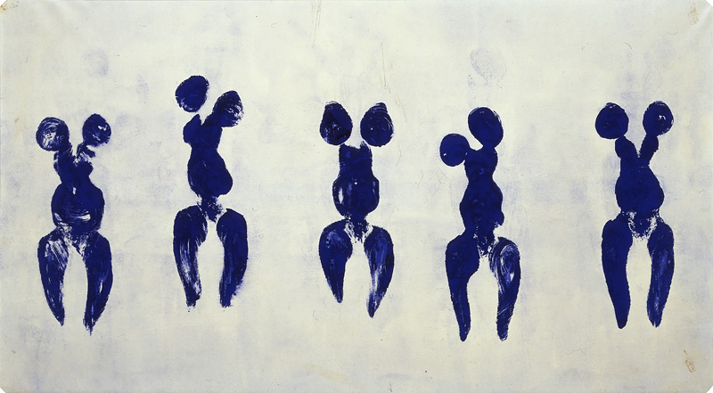 Yves Klein. Anthropométrie de l'époque bleue (ANT 82). 1960. [Source: Yves Klein Archive]