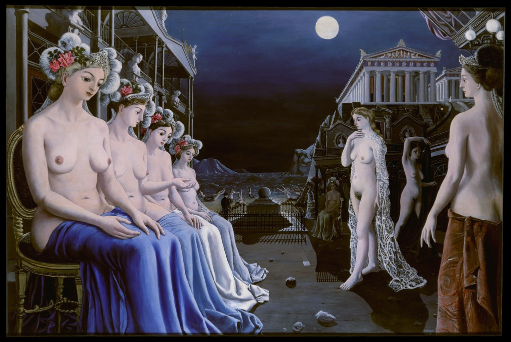 Paul Delvaux. The Great Sirens. Oil on canvas. 1947. Metropolitan Museum of Art, New York. http://www.metmuseum.org/Collections/search-the-collections/210002193