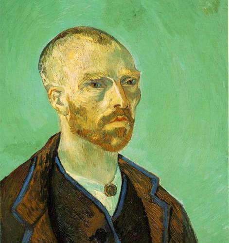 Vincent Van Gogh. Self-Portrait (dedicated to Paul Gauguin). 1888. [Source: Wikipedia/NPR]